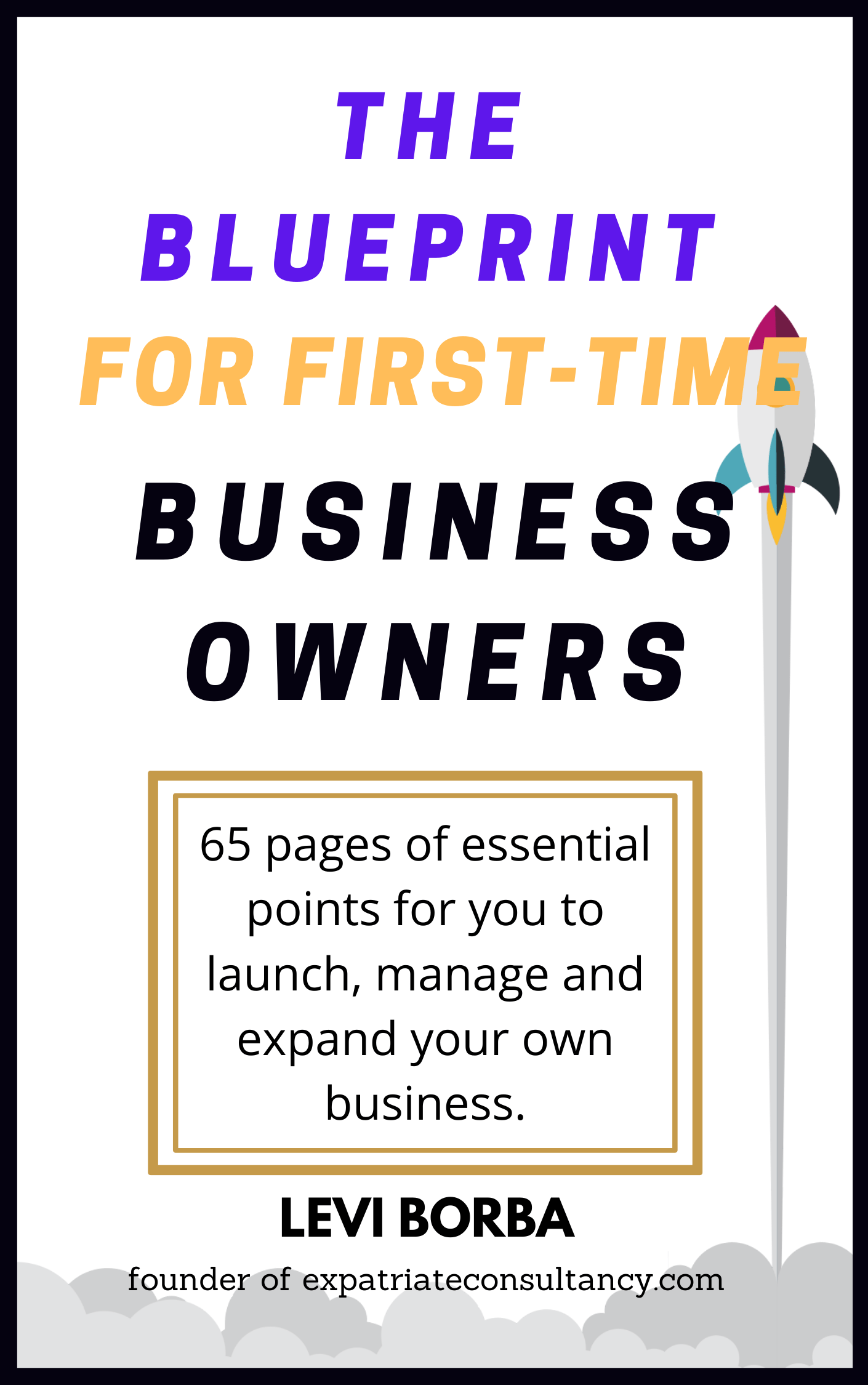 Blueprint for first-time business owners